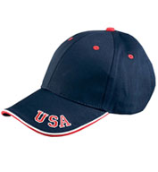 Custom Adams 6 Panel Mid-Profile Cap with USA Embroidery
