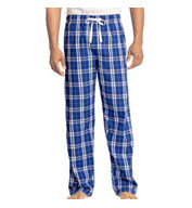 Custom District Young Mens Flannel Plaid Pajama Pants