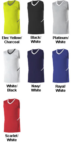 Alleson Youth Bounce Basketball Jersey - All Colors