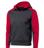 Custom Sport-Tek® Mens Colorblock Tech Fleece 1/4-Zip Hooded Sweatshirt Mens