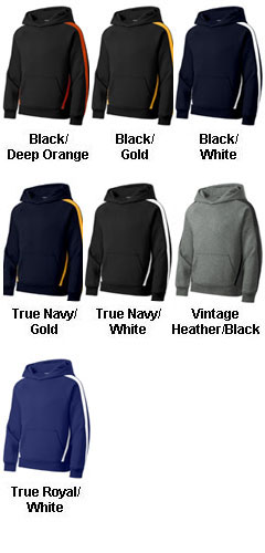 Sport-Tek® - Sleeve Stripe Pullover Hooded Sweatshirt  - All Colors