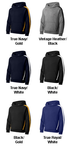 Sport-Tek® - Youth Sleeve Stripe Pullover Hooded Sweatshirt - All Colors