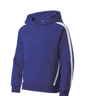Sport-Tek® - Youth Sleeve Stripe Pullover Hooded Sweatshirt