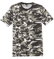 Mens Perfect Weight Camo Crew Neck T-shirt
