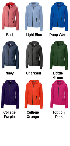 Ladies Fleece Full Zip Up Hoodie - All Colors