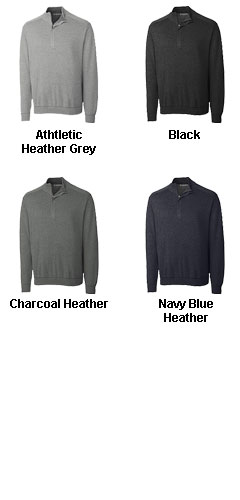 Cutter and Buck Mens Big and Tall Half Zip Sweater - All Colors
