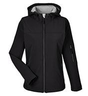 Custom Devon & Jones Ladies Soft Shell Hooded Jacket