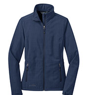 Custom Eddie Bauer® Ladies Shaded Crosshatch Soft Shell Jacket