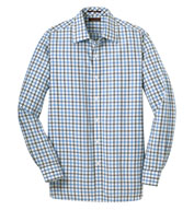 Custom Red House® Mens Non-Iron Tricolor Check Shirt