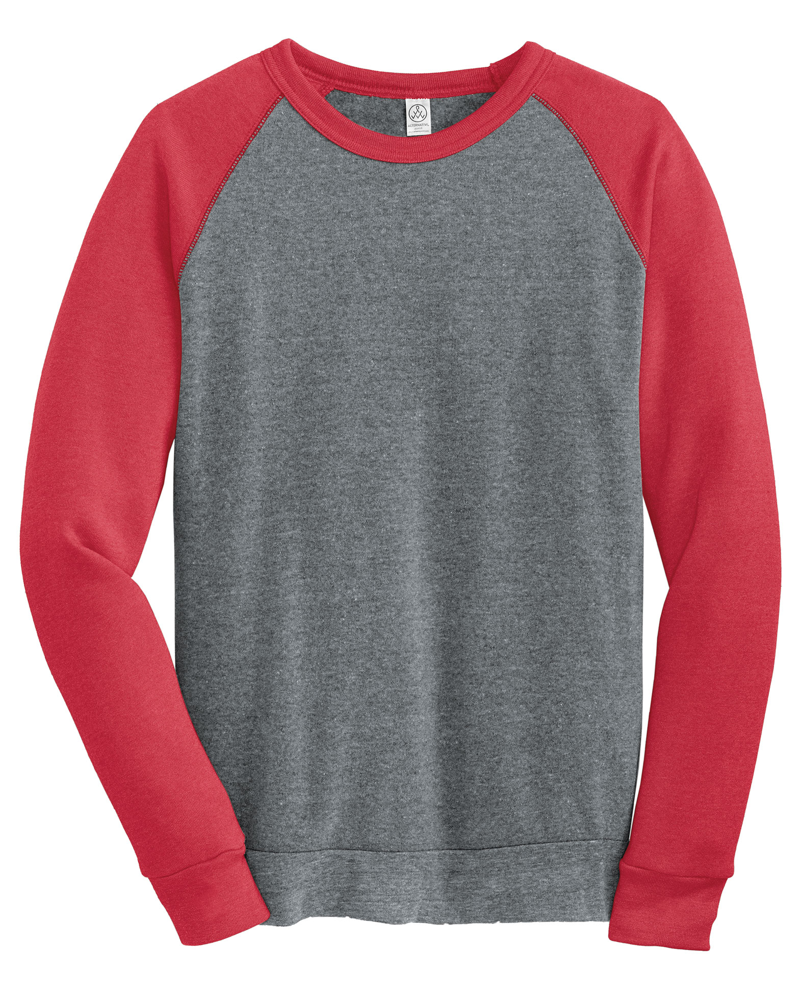 Alternative Apparel Mens Champ Colorblock Crewneck Sweatshirt