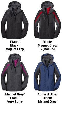 Ladies Colorblocking 3-in-1 Jacket - All Colors
