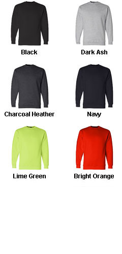 Bayside USA Made Mens Crewneck Sweatshirt - All Colors