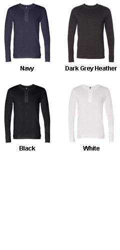 Mens Long Sleeve Henley Jersey - All Colors