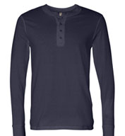 Custom Bella + Canvas Mens Long Sleeve Henley Jersey