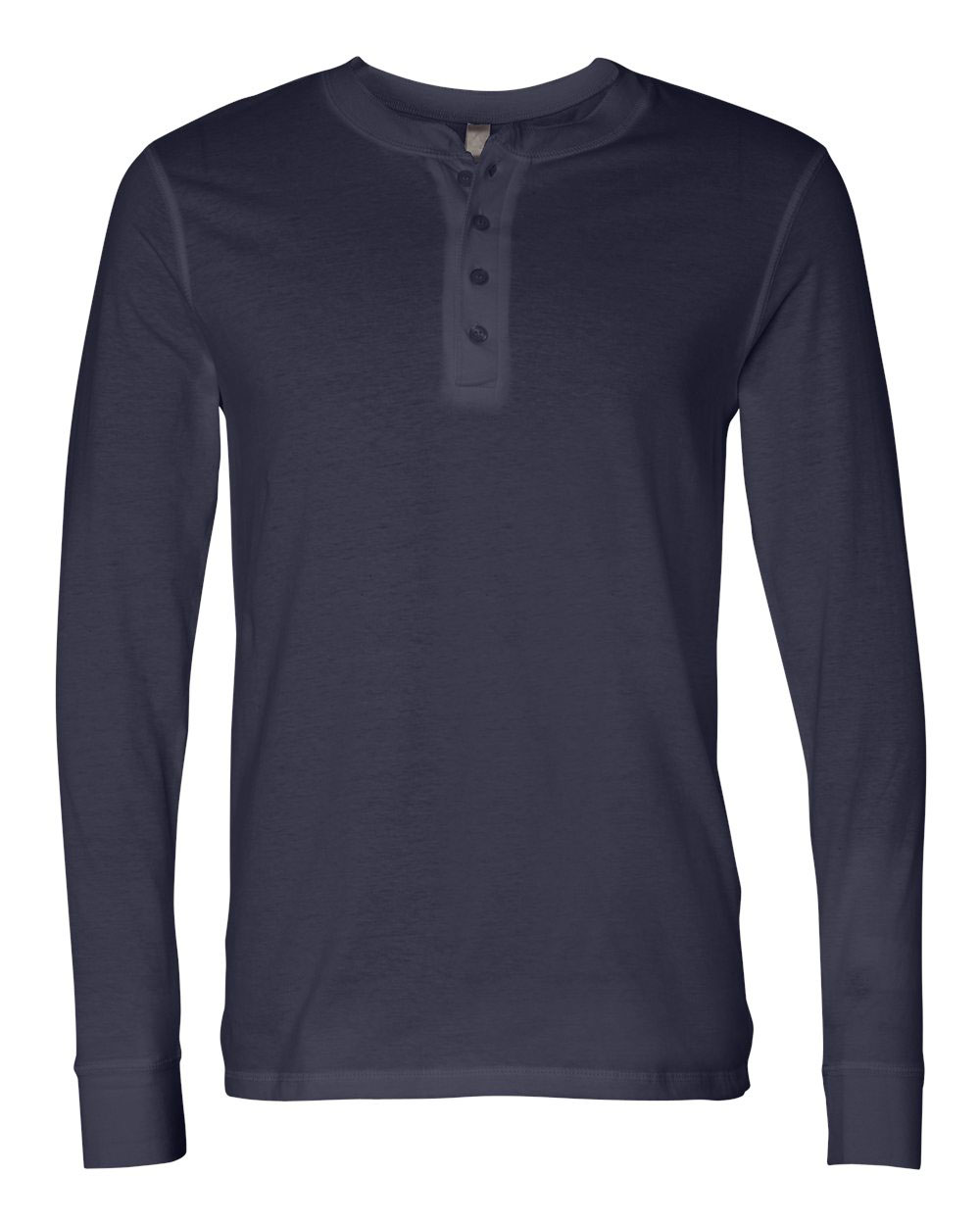 Bella + Canvas Mens Long Sleeve Henley Jersey
