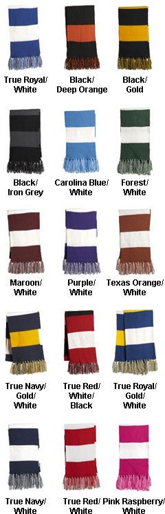 Sport-Tek® Spectator Scarf in Team Colors - All Colors
