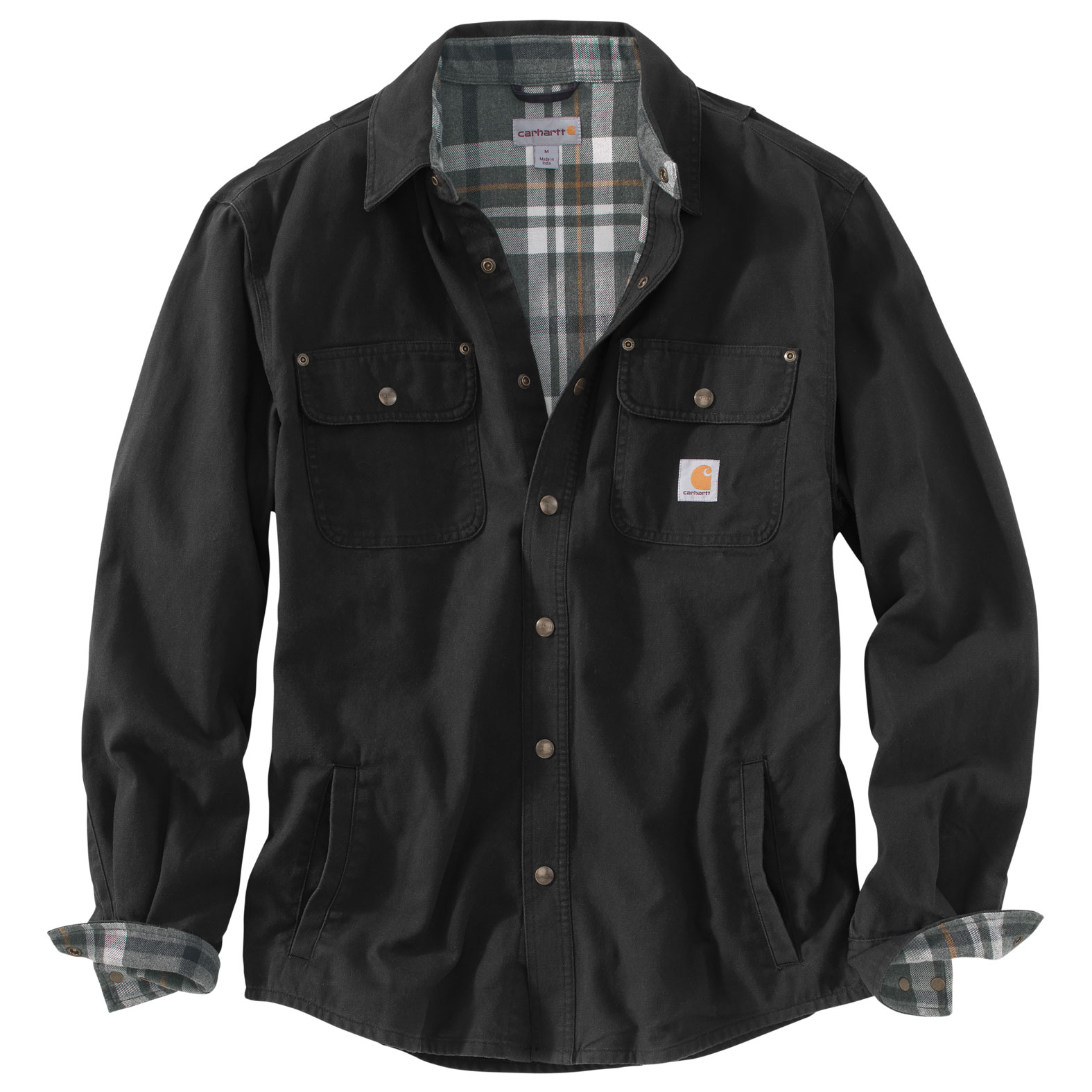Customize Carhartt Weathered Canvas Shirt Jacket Mens