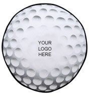 Custom Golf Ball Shaped Towel  with Hook and Grommet