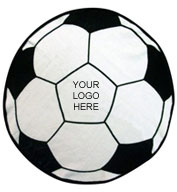 Custom Soccer Ball Shaped Sports Towel
