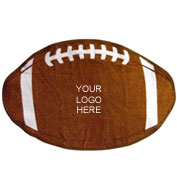 Custom Football Shaped Sports Towel