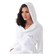 Custom Towel Specialties Unisex Hooded Coral Fleece Robe
