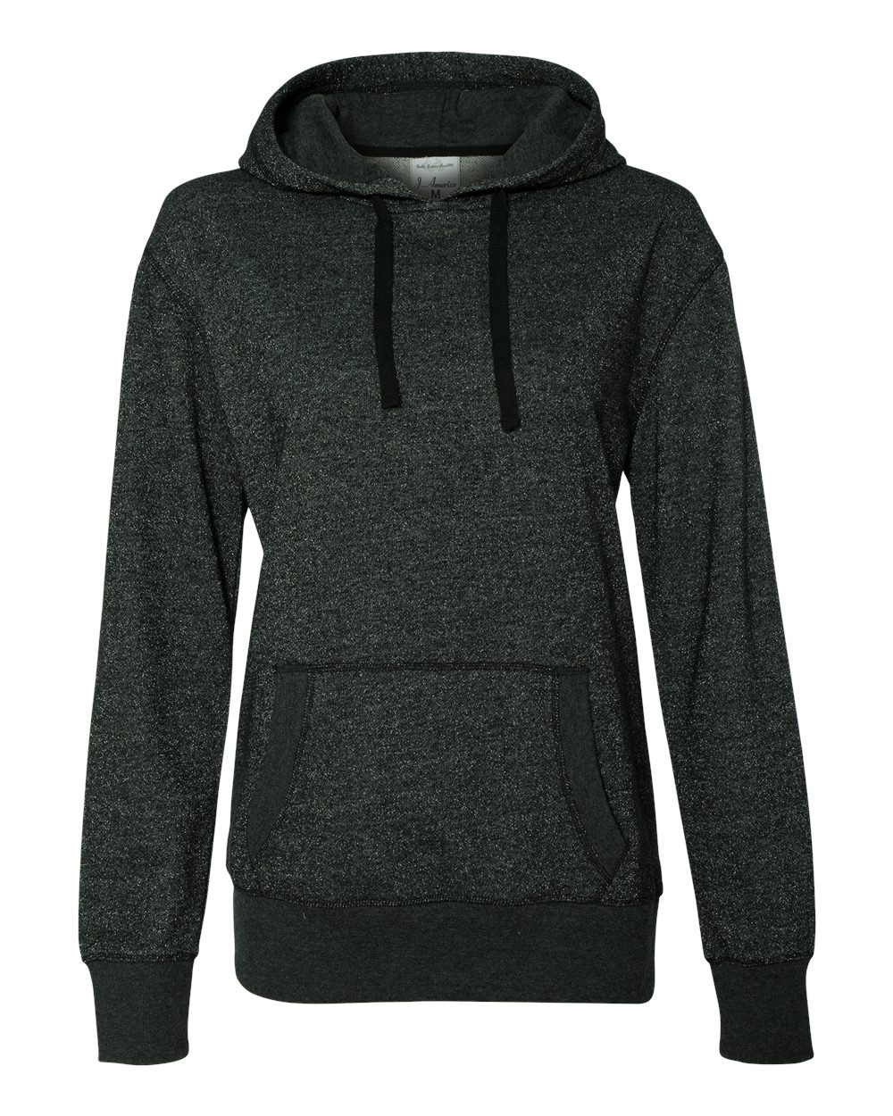 J. America Glitter French Terry Ladies Hoodie