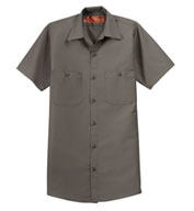 Custom Red Kap Mens Tall  Half Sleeve Industrial Work Shirt