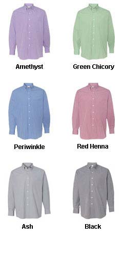 Van Heusen Mens Gingham Dress Shirt - All Colors