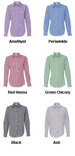 Van Heusen Ladies Gingham Dress Shirt - All Colors