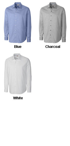 Mens Easy Care Mini Herringbone Dress Shirt - All Colors