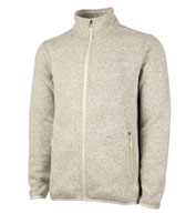 Custom Mens Heathered Fleece Sweater Jacket by Charles River Apparel