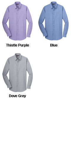 Mens Windowpane Dress Shirt - All Colors