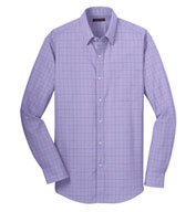 Custom Mens Windowpane Dress Shirt
