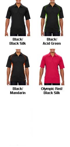 Mens Serac Performance Zippered Polo - All Colors