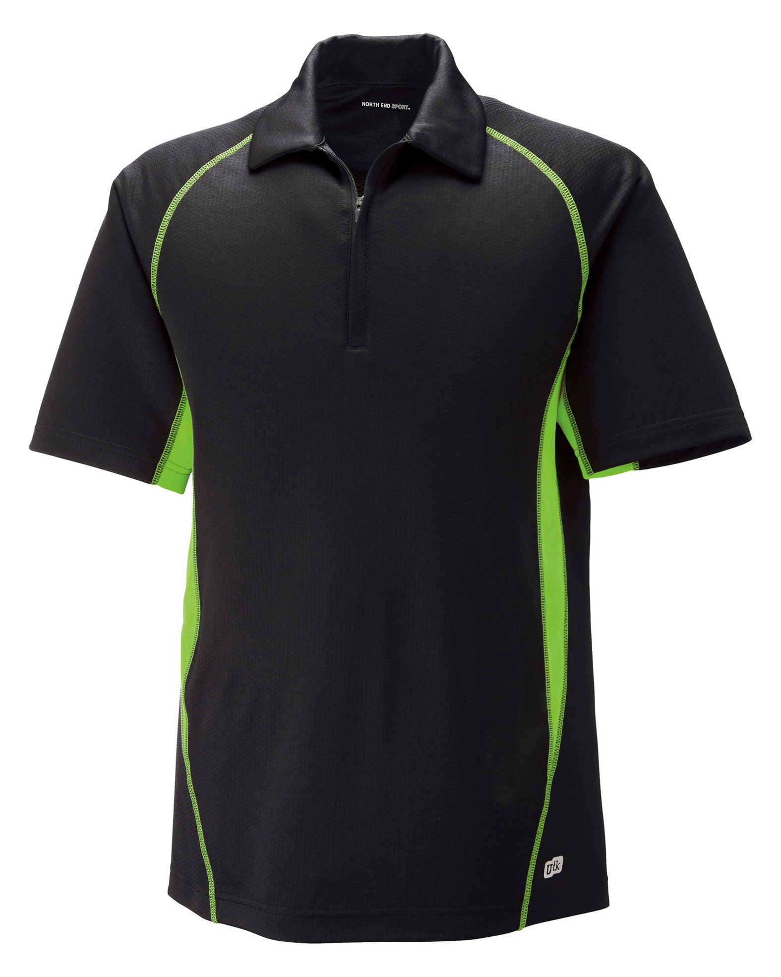 North End Mens Serac Performance Zippered Polo