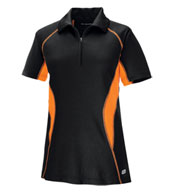 Custom North End Ladies Serac Performance Zippered Polo