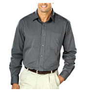 Custom Mens Heathered Crossweave Dress Shirt