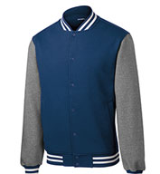 Custom Mens Fleece Letterman Jacket