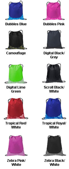 Patterned Cinch Drawstring Bag - All Colors