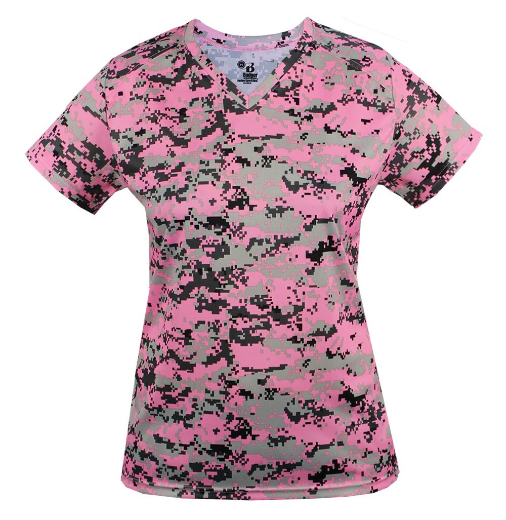 Digital Ladies V-Neck Tee