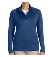Custom Devon & Jones Ladies Stretch Tech-Shell® Compass Quarter-Zip