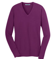 Custom Port Authority® Ladies V-Neck Sweater