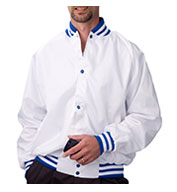 Custom ASW Adult Pro-Satin Baseball Jacket - Flannel Lined