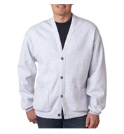 Custom Jerzees Midweight NuBlend® Mens Fleece Cardigan