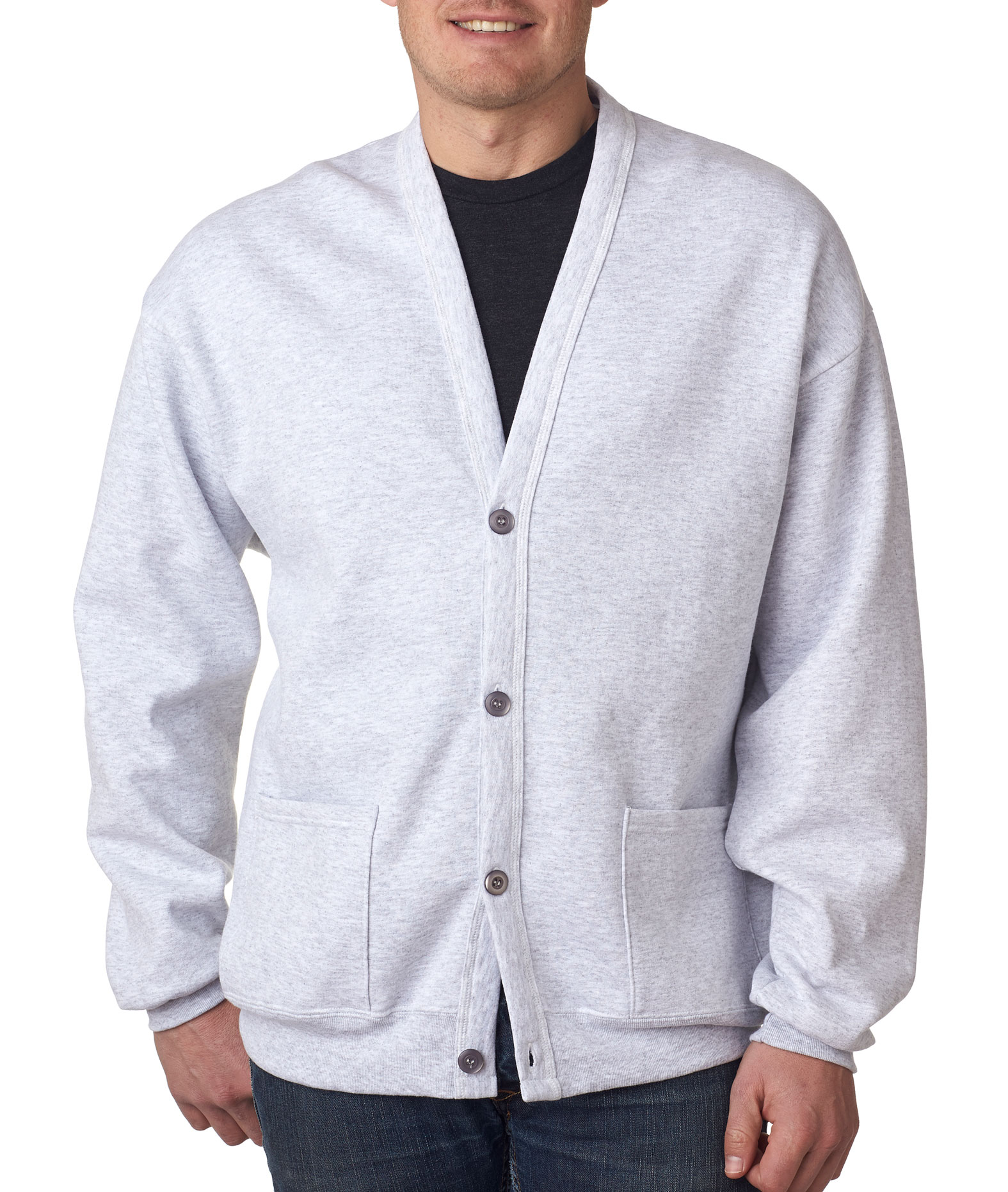 Jerzees Midweight NuBlend® Mens Fleece Cardigan