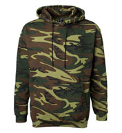 Custom Code V Adult Camouflage Hooded Sweatshirt