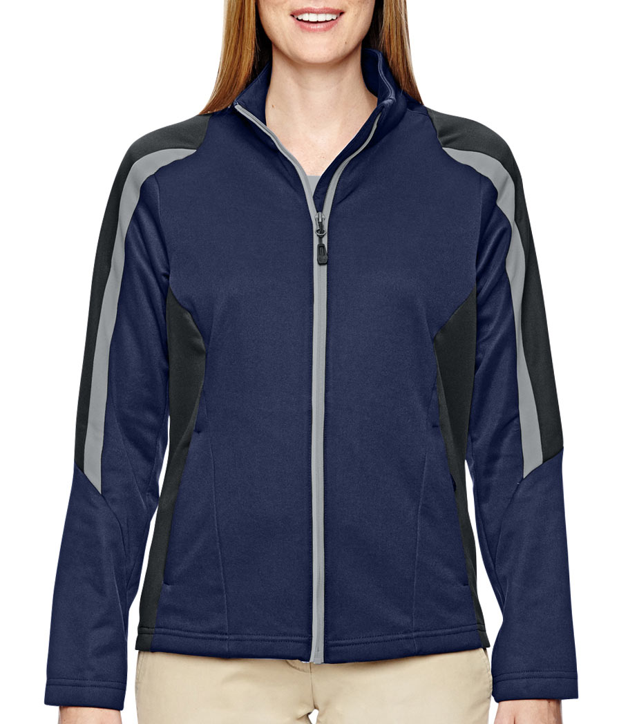 North End Ladies Strike Colorblock Fleece Jacket