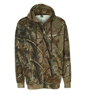 Custom Realtree® Mens Hooded Full-Zip Sweatshirt by Code V