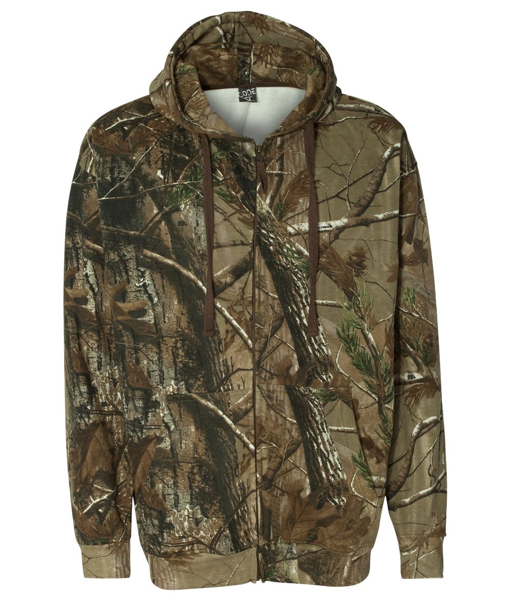 Realtree® Mens Hooded Full-Zip Sweatshirt by Code V