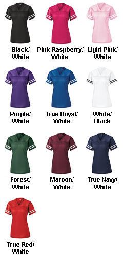 Custom Ladies Replica Football Fan Jersey - All Colors